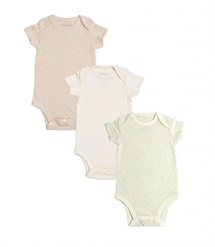 Organic Cotton Unisex Baby Bodysuit Onesie, 100% Natural Dye-Free, 3Pk 9M