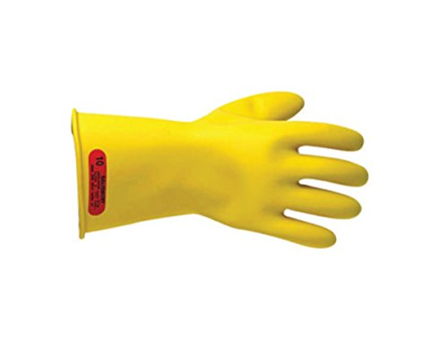 """Salisbury By Honeywell Size 8 Yellow 11"""" Type I Natural Rubber Class 0 Low Voltage Electrical Insulating Linesmen'S Gloves"""
