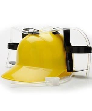Beer Guzzler Helmet Yellow Helmet