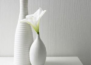 Superfresco Ribbed Wallpaper - White by New A-Brend