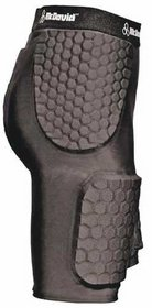 McDavid Hexpad Thudd Short with Dual Density Hexpad Thigh Pads (Black, XX-Large)