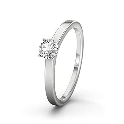 21DIAMONDS Colombo White Topaz Brilliant Cut Women's Ring-Silver Engagement Ring