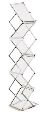 Sign Talk Zigzag Pocket Magazine Brochure Literature Catalog Holder Rack Stand Trade show Display w/Aluminium Case(6 Pockets) (Display Case For Magazine compare prices)