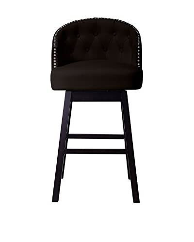 Baxton Studio Avril Modern Faux Leather Swivel Barstool
