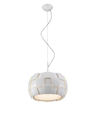 "Access Lighting Layers LED 14"" Pendant, White"