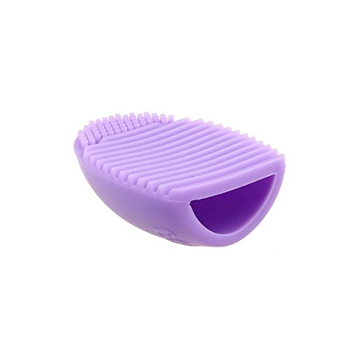 Brush Cleaning Makeup Washing Brush Silica Glove Scrubber Board Cosmetic Clean Tools (Purple) by KIMUSE (Cosmetic Scrubber compare prices)