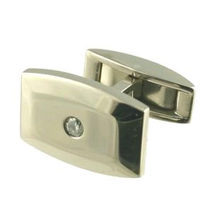Titanium Centre 0.16ct Cufflinks
