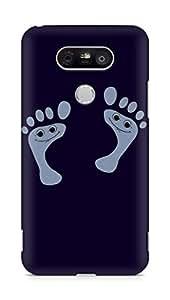 Amez designer printed 3d premium high quality back case cover for LG G5 (Funny Smily footprints)