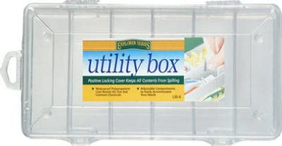 10 UB6 South Bend 6 Compartment 9quot x 4quot Clear Plastic Utility  Tackle Boxes
