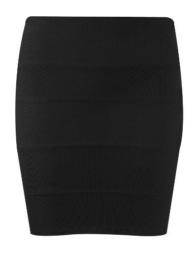 Ribbed Bandage Zip Skirt /Dwnstr. Black 8 9038 (1.96)
