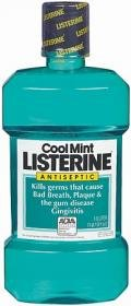 Listerine Antiseptic Mouthwash, Cool Mint, 33.8-Ounce