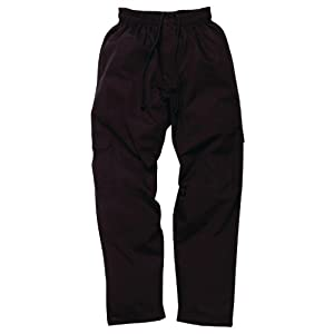 Chef Works CPBL-000 Black J54 Cargo Pants, Size L