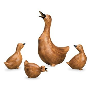 Special Price At Amazon Click To See Price. Description Duck Quartet Resin Garden  Statues Customer Review