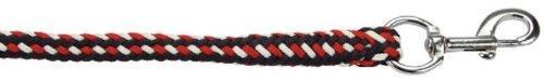 Führstrick Softra m. Karabiner orange/grau/weiß