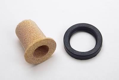 Edelbrock//Russell 645150 Black Aluminum Street Fuel Filter
