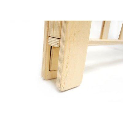 Alpha-Bookshelf Bed Rail Size: Small, Color: Birch