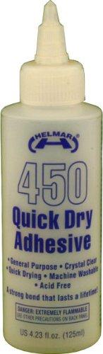 Helmar 450 Quick Dry Adhesive, 4.23 Fluid Ounce