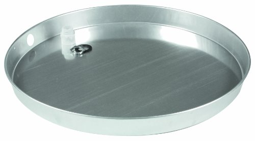 """Camco 20800 20"""" Id X 2"""" Aluminum Water Heater Drain Pan With Pvc Fitting"""