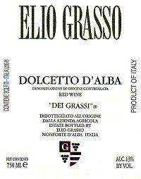 Elio Grasso Dolcetto D'Alba Dei Grassi 2012 750Ml