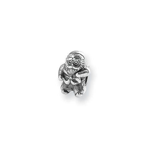 Santa Claus Charm in Silver for 3mm Charm Bracelets