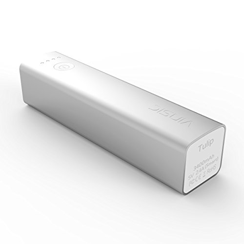 Power Bank, Vinsic® Tulip 3400mAh Power Bank, Smart Identification 5V 1.5A Output External Battery Charger Pack for iPhone, iPad, iPod, Samsung Devices, Cell Phones, Tablet PCs (Mobile Charger For Iphone 5 compare prices)