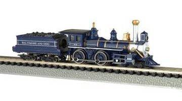 Bachmann N 11754 Baltimore & Ohio Royal Blue 4-4-0 American Steam Locomotive front-609218