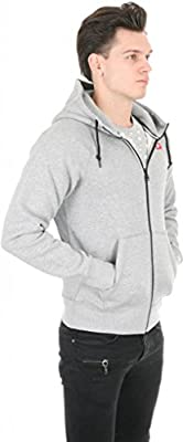 Nike Men's AW77 Fleece Full Zip Hoodie-Gray