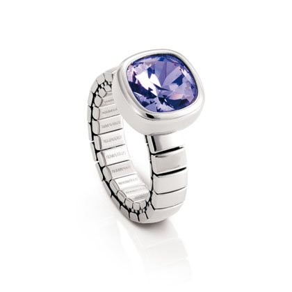 CHIC: Stainless steel ring made with CRYSTALLIZEDTM - Swarovski Elements. (VIOLET)