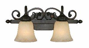 Golden Lighting 4074-2 RBZ Belle Meade Two Light Vanity, Rubbed Bronze Finish