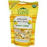 YumEarth Organics Variety Of Vitamin Pops, Drops and Snacks - The #1 Organic Candy in America (Cheeky Lemon Candy Drops - 3.3 Oz.)