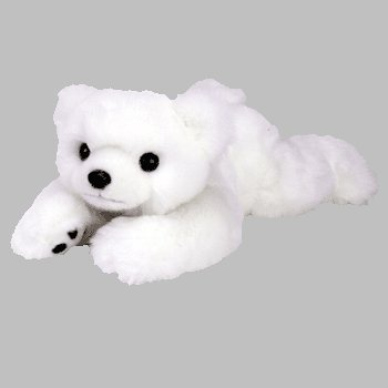 "1 X TY Classic Plush - PAWS BABY the Bear ( White - 12"" )"