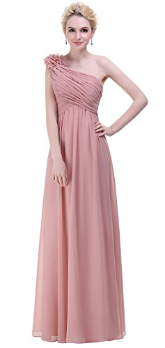 BISLU-Flowers-One-Shoulder-Long-Prom-Evening-Party-Bridesmaids-Dress