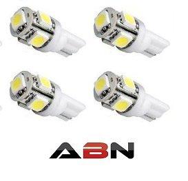 Abn 4X 194 168 2825 T10 5-Smd White Led Car Lights Bulb