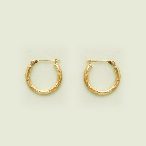 10KT Gold Tube Hoops SDC 3 Wall 2x16m