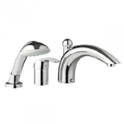 Grohe 32 644 En1 Eurosmart Roman Tub Faucet With Personal Hand Shower, Infinity Brushed Nickel Finish front-513041