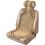 Custom Accessories Wood Beaded Comfort Seat Cushion Tan