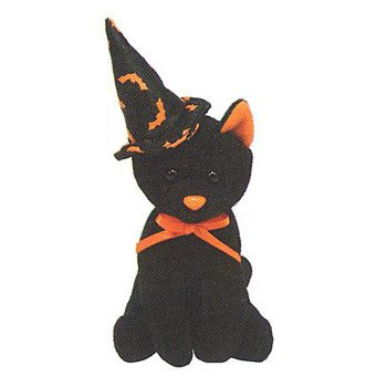 TY Halloweenie Beanie Baby - SCURRY the Cat