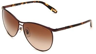 (新品)拉夫劳伦Ralph Lauren Women's 0RA4092 紫色渐变飞行员太阳眼镜 $51.16