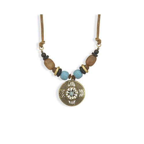 CleverSilver's Multibead Leather Fashion Necklace