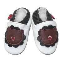 Soft Leather Baby Shoes White Lion 612 months
