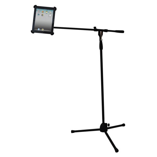 Pyle-Pro Pmkspad1 Multimedia Microphone Stand With Adapter For Ipad 2 (Adjustable For Compatibility W/Ipad 1)
