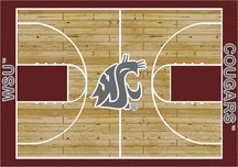 Milliken Washington State Cougars 5 x 8 Washington State Cougars Area Rug
