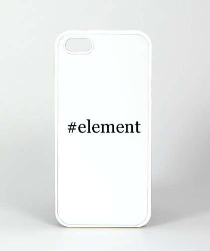 #Element - Funny Hashtag Iphone 5, 5S Case Cover, Plastic White