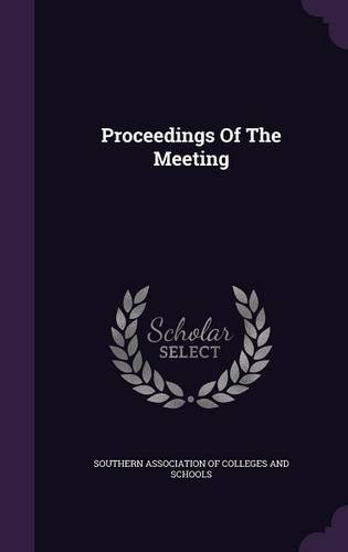 Proceedings Of The Meeting