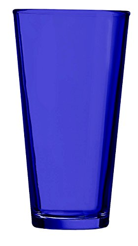 Blue Pint Glass - Additional Colors Available - 16oz Set of 6