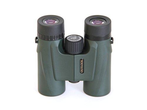 Outlook Traveler 8X32 Binocular, Water Proof, Fog Proof, Long Eye Relief, Green