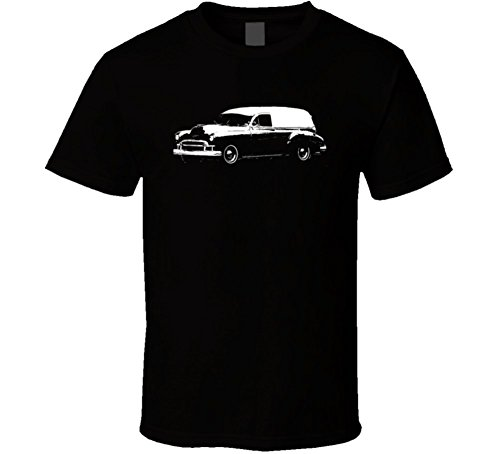 CarGeekTees.com 1950 Sedan Delivery Side View Dark Color Car Lover Gift Enthusiast T Shirt 2XL Black (Pontiac Sedan Delivery compare prices)