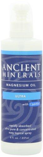 Ancient Minerals - Olio di magnesio ultra, con OptiMSM 236 ml