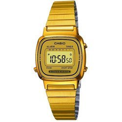 Casio Gold Plated Ladies Digital Bracelet Watch LA670WEGA-9EF