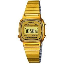 Casio Gold Plated Ladies Digital Bracelet Watch LA670WEGA-9EF